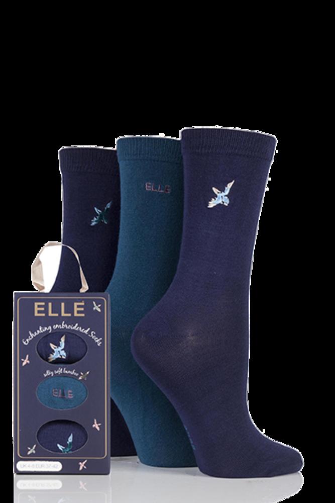 Elle Enchanting Bamboo Socks In Gift Box Mystic Blue