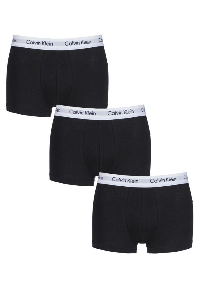 Mens 3 Pair Calvin Klein Low Rise Trunks