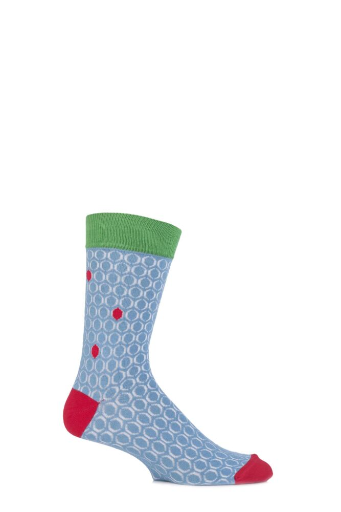 Mens 1 Pair Urban Knit Bubble Effect Cotton Socks 25% OFF