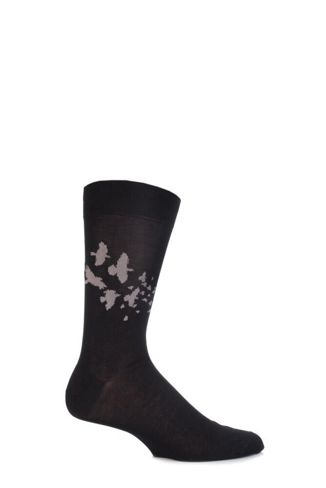 Mens 1 Pair Urban Knit Mercerised Cotton Fly Away Socks 75% OFF
