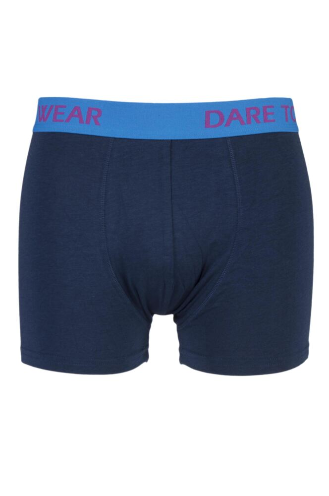 Mens 1 Pack SockShop Dare to Wear Bamboo Hipster Trunks In Navy