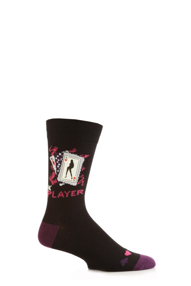 Mens 1 Pair SockShop Dare To Wear Novelty Socks - Player