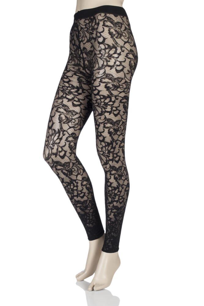 Ladies 1 Pair Oroblu Floriana Floral Lace Leggings 25% OFF