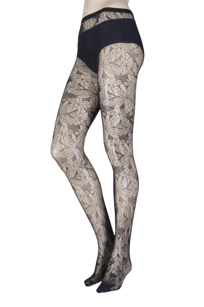 Ladies 1 Pair Oroblu Colleen Floral Net Tights