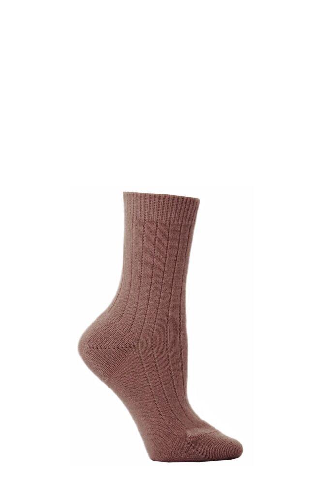 Ladies 1 Pair Pantherella 85% Cashmere Rib Anklet
