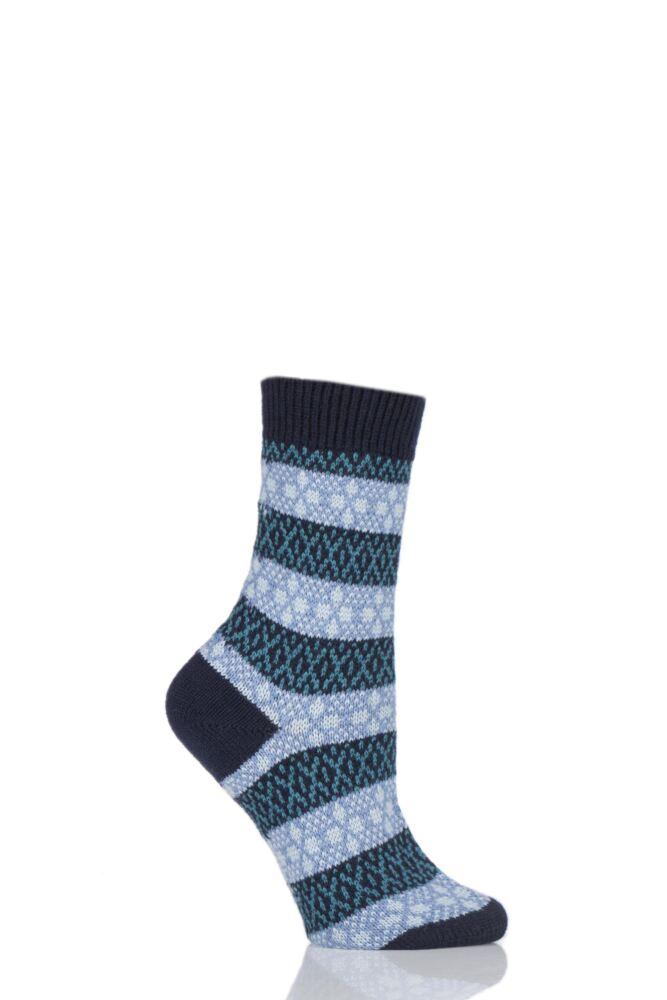 Ladies 1 Pair Pantherella Merino Wool Tara Fair Isle Socks