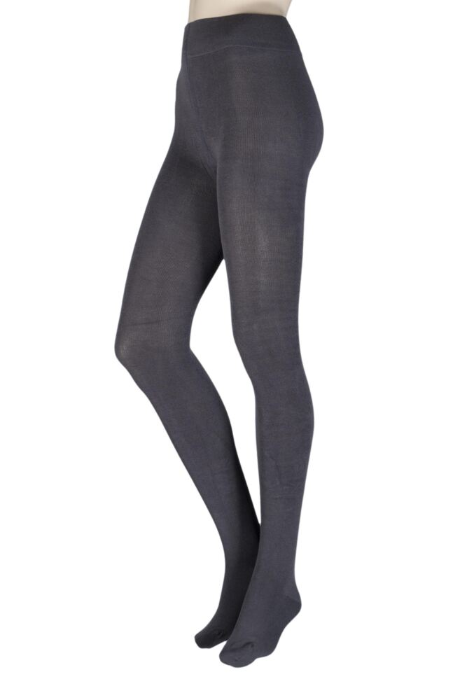 Ladies 1 Pair Thought Brontie Bamboo and Organic Cotton Plain 80 Denier Tights