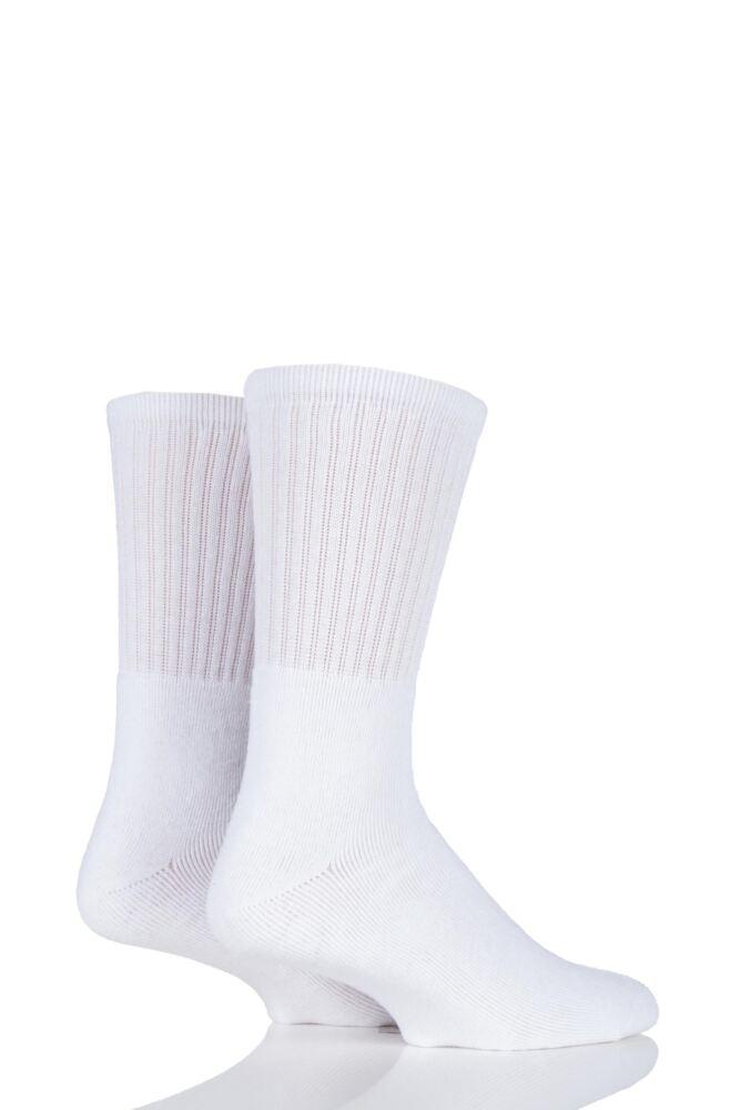 Mens 2 Pair Workforce Cushion Foot Cotton Work Socks