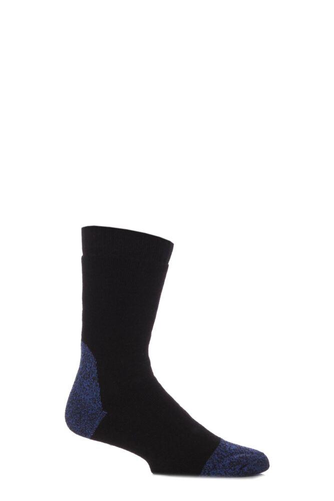 Mens 1 Pair Workforce Calf Length Steel Safety Socks