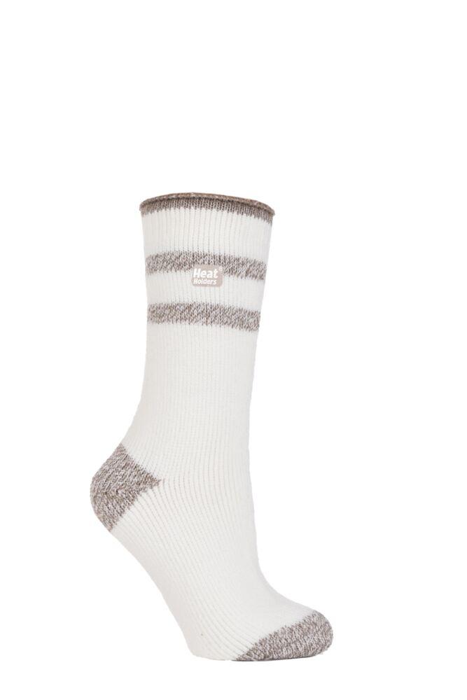 Ladies 1 Pair SockShop Twisted Yarn Heat Holders Thermal Socks