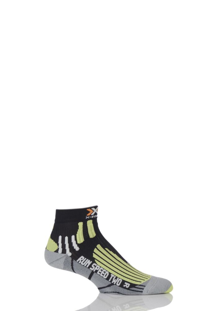 Mens 1 Pair X-Socks Run Speed Two Running Socks