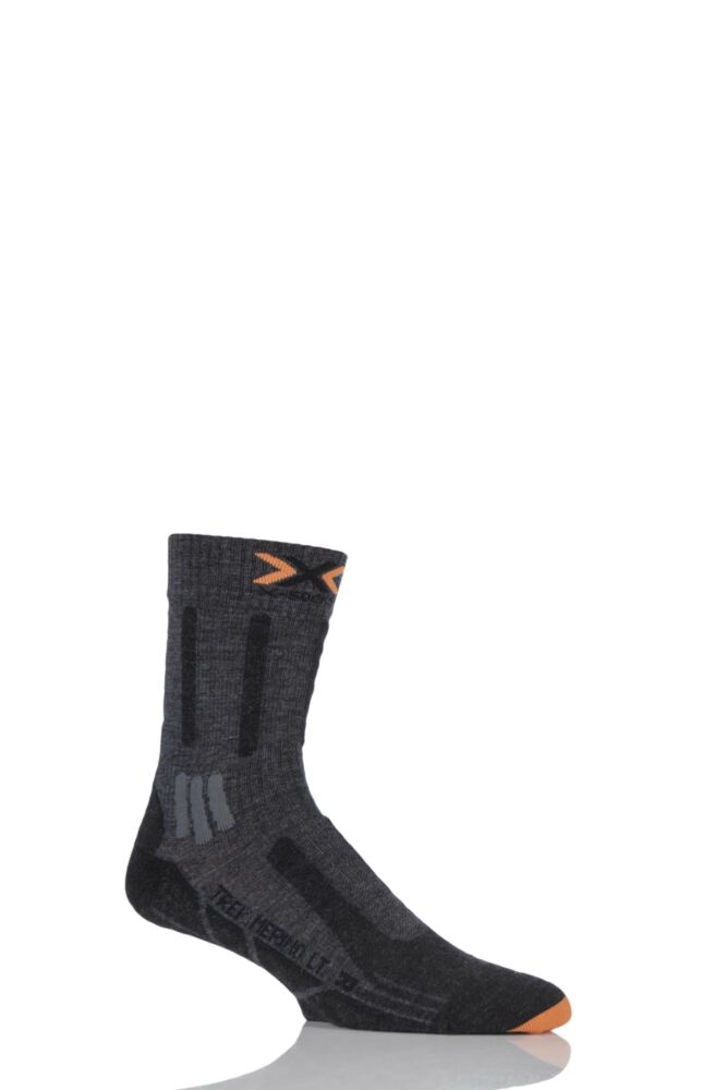 Mens 1 Pair X-Socks Lightweight Merino Trekking Socks