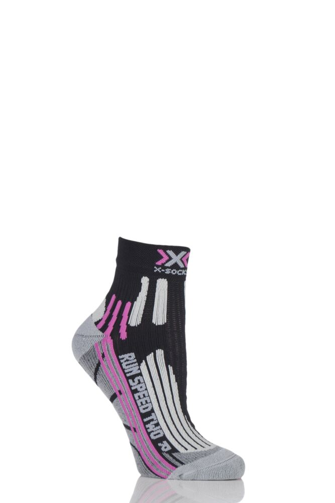 Ladies 1 Pair X-Socks Run Speed Two Running Socks