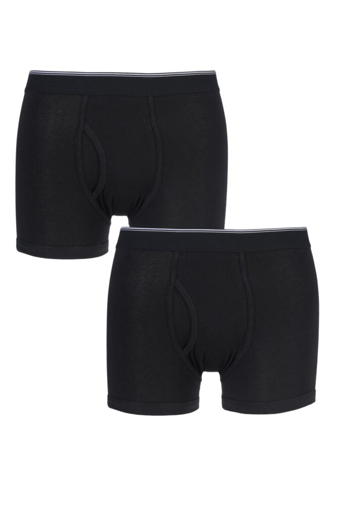 Mens 2 Pack Farah Keyhole Trunks