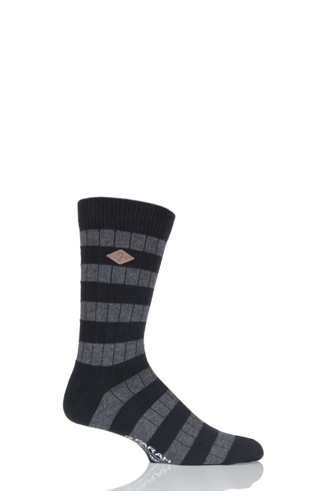 Mens 1 Pair Farah 1920 Cotton Chunky Ribbed Leisure Boot Socks