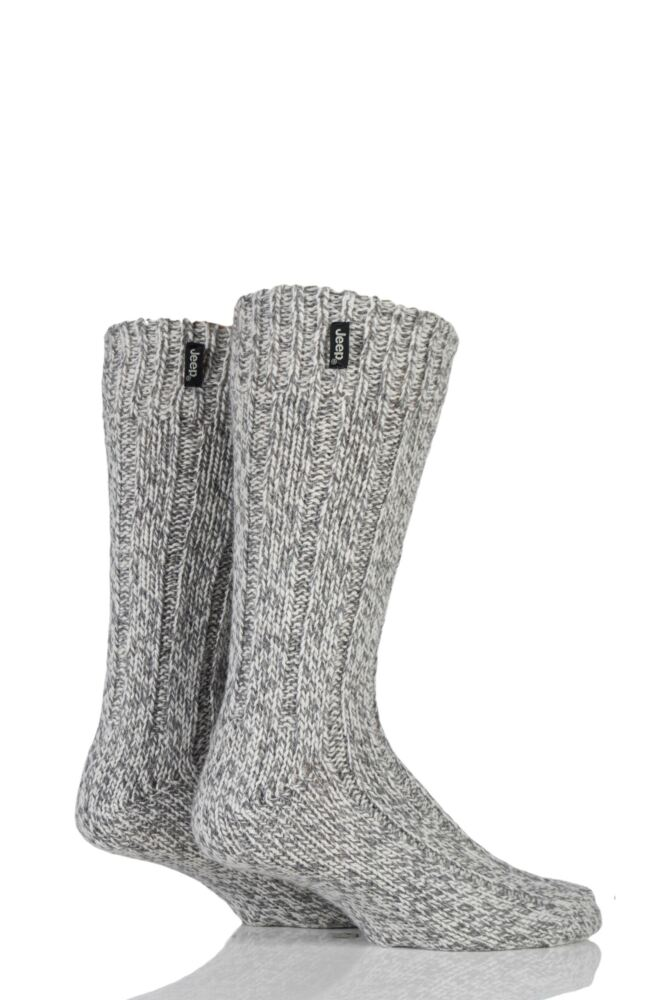 Mens 2 Pair Jeep Terrain Boot Sock