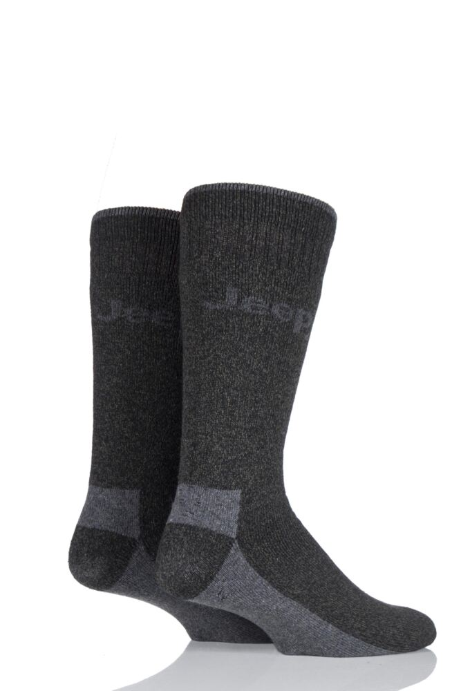 Mens 2 Pair Jeep Chunky Boot Socks