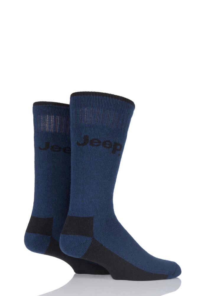 Mens 2 Pair Jeep Chunky Boot Socks