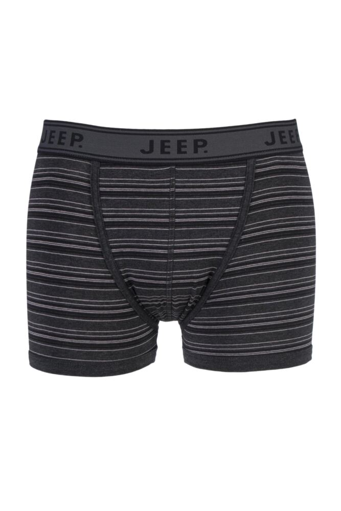 Mens 1 Pair Jeep Spirit Cotton Pin Stripe Trunks In Charcoal