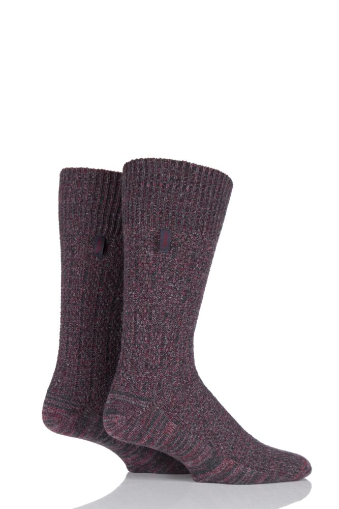 Mens 2 Pair Jeep Urban Trail Wool Ribbed Boot Socks