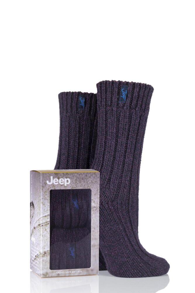 Ladies 2 Pair Jeep Gift Boxed Terrain Boot Socks