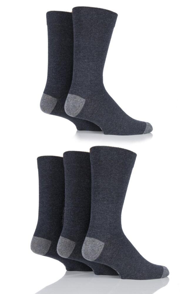 Mens 5 Pair Jeep Spirit Everyday Plain Cotton Socks