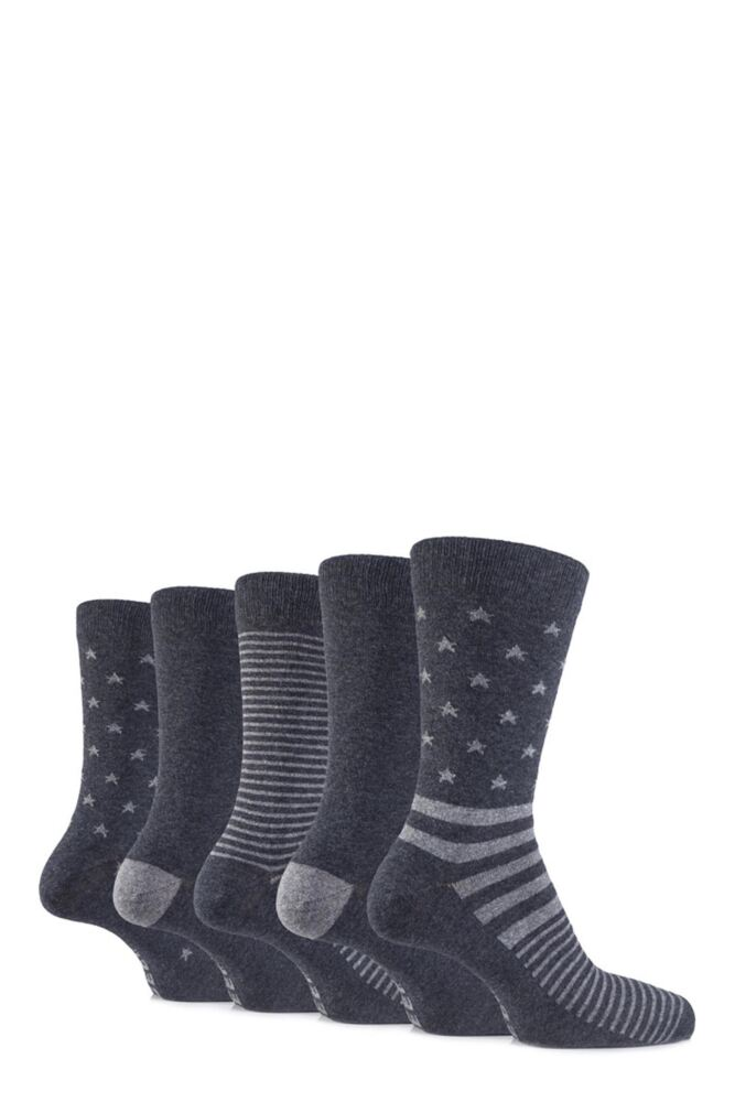 Mens 5 Pair Jeep Spirit Everyday Stars and Stripes Cotton Socks
