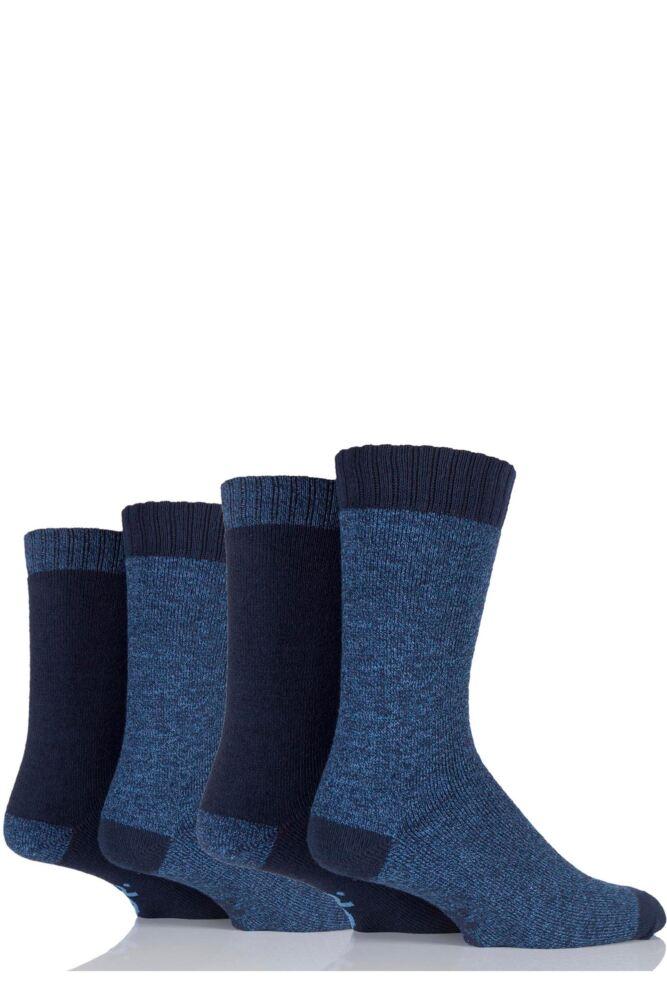 Mens 4 Pair Jeep Urban Trail Marl Boot Socks