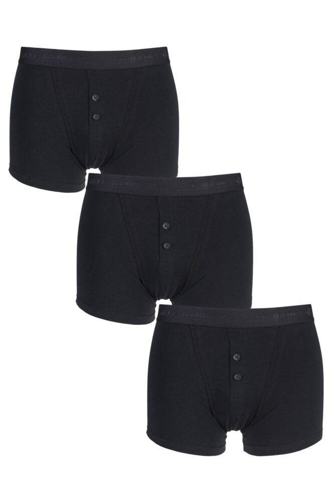 Mens 3 Pack Jeff Banks Marlow Buttoned Boxer Shorts