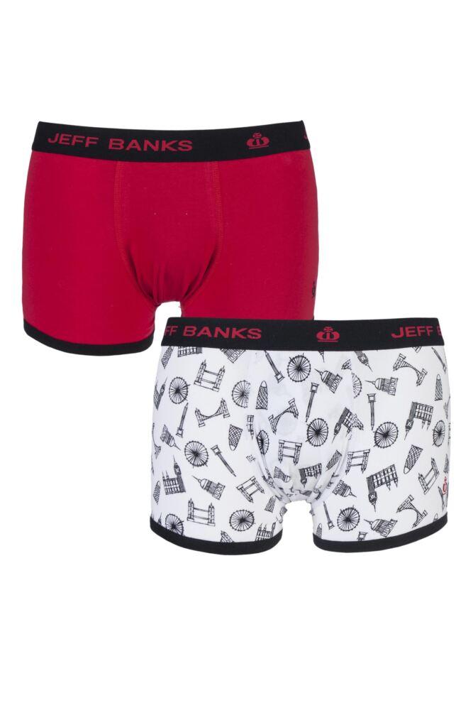 Mens 2 Pack Jeff Banks Greenwich London Fashion Trunks
