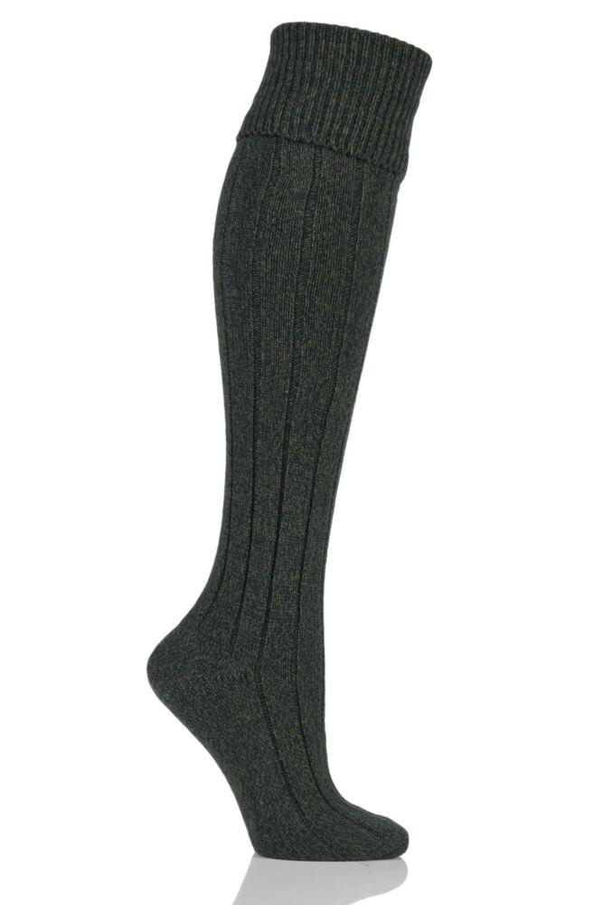 Ladies 1 Pair Scott Nichol Charnwood 70% Wool Turn Over Top Wellington Boot Socks