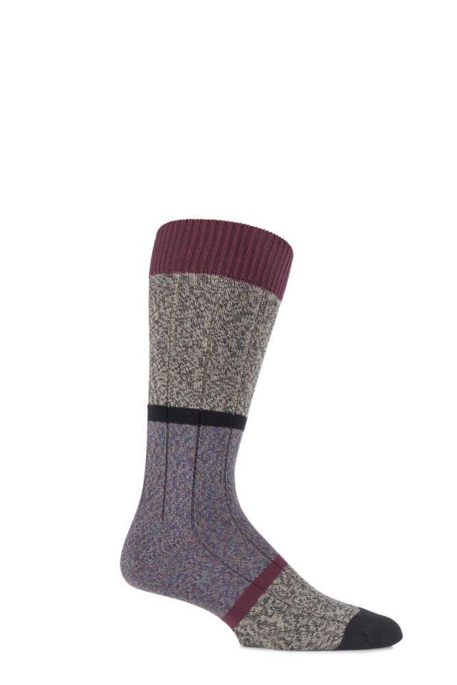 Mens 1 Pair Scott Nichol Urban Collection The Boultham Cotton Block Marl Socks