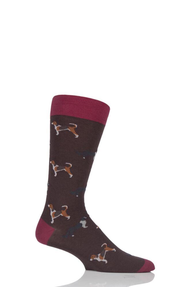 Mens 1 Pair Scott Nichol All Over Dogs Cotton Socks