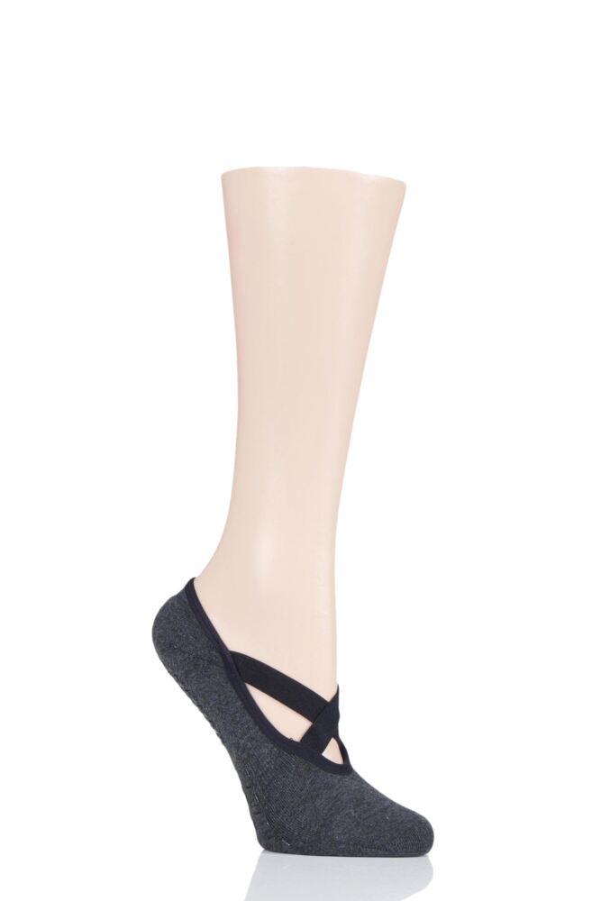 Ladies 1 Pair Tavi Noir Full Toe Organic Cotton Chloe Ballet Slippers Socks with Grip