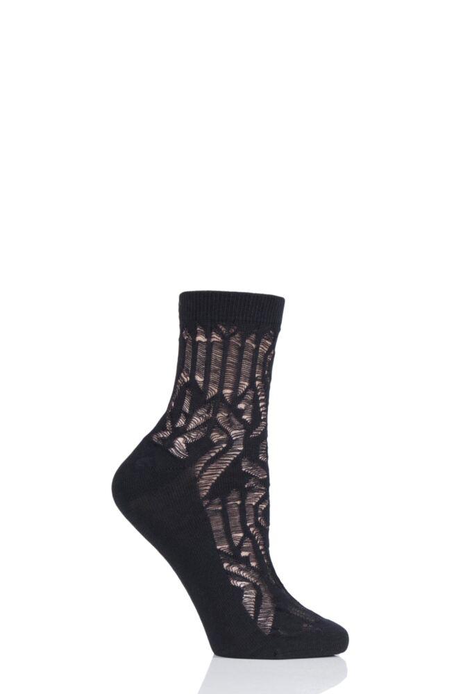 Ladies 1 Pair Tavi Noir Remi Organic Cotton Casual Art Deco Socks