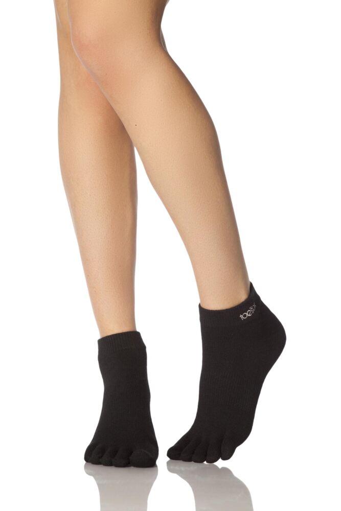 Mens and Ladies 1 Pair ToeSox Lightweight Full Toe Ankle Ultra Sport Socks