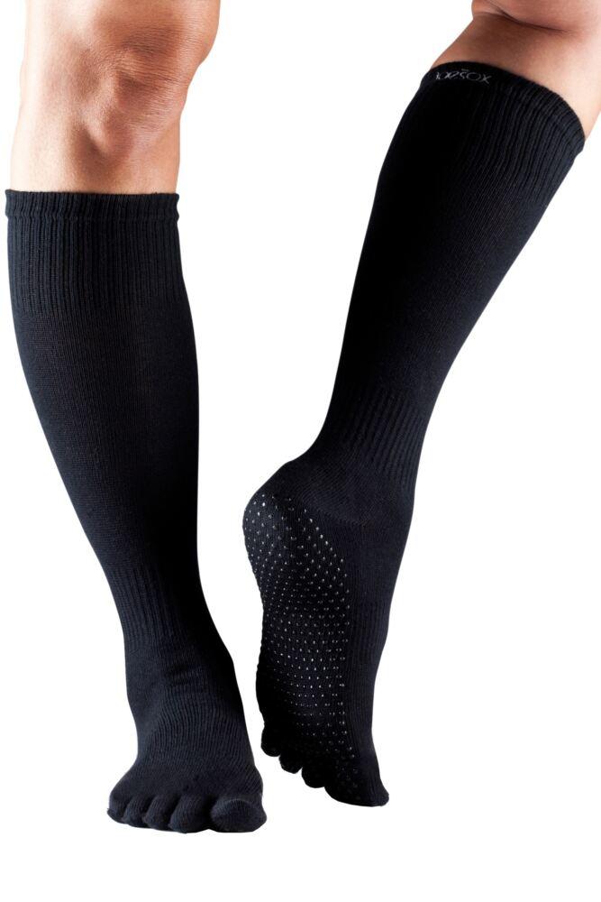Ladies 1 Pair ToeSox Scrunch Full Toe Organic Cotton Knee High Socks