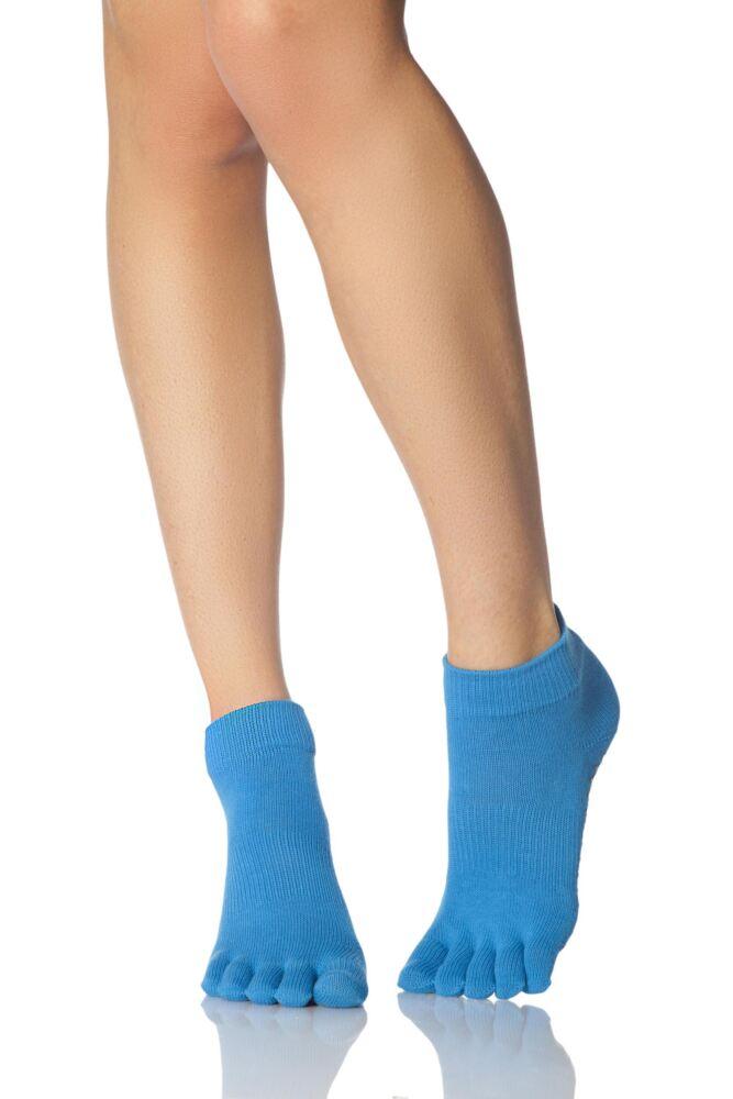 Ladies 1 Pair ToeSox Low Rise Full Toe Organic Cotton Socks