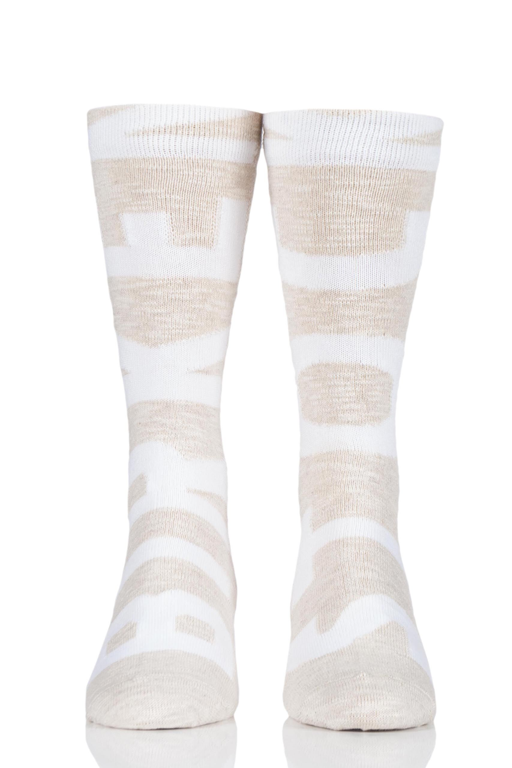 Image of 1 Pair Beige Sub Logo Cotton Socks Men's 10.5-12 Mens - Birkenstock