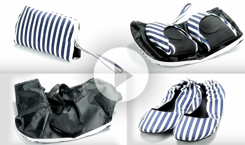 How Tipsy Feet fold up shoes work
