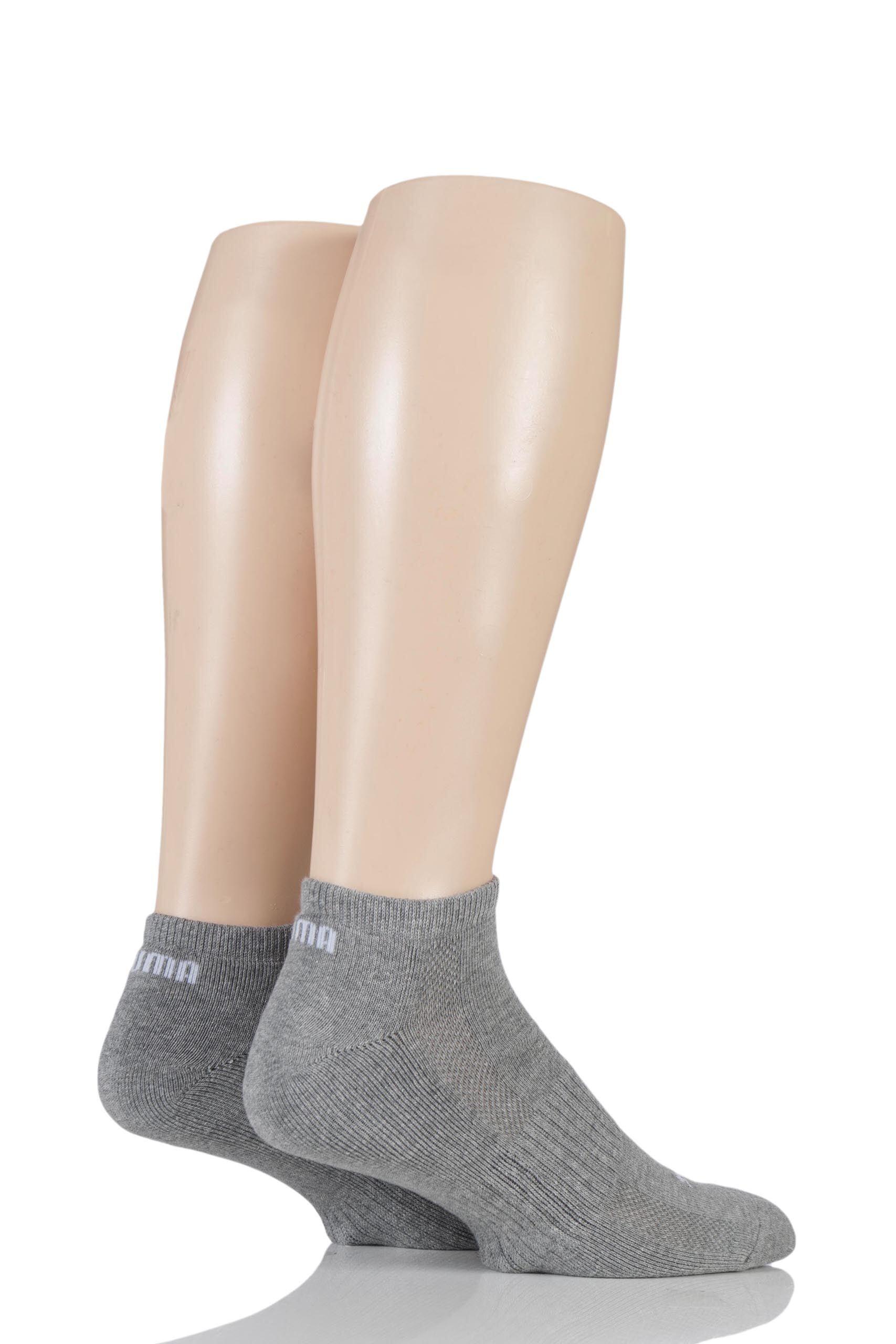 Image of 2 Pair Grey Sneaker Socks Unisex 2.5-5 Unisex - Puma