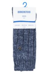 Mens 1 Pair Birkenstock Cotton Slub Twist Ribbed Socks Packaging Image