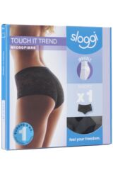 Ladies 1 Pack Sloggi Touch It Trend H Lace Backed Invisible Short Briefs Product Shot