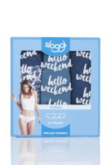 Ladies 3 Pack Sloggi Weekend Everyday Hipster Knickers Packaging Image