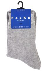 Boys and Girls 1 Pair Falke Back to School Plain Cotton Socks Packaging Image