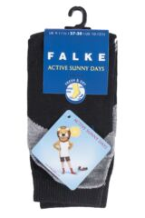 Boys and Girls 1 Pair Falke Active Sunny Days Cotton Sports Socks Packaging Image