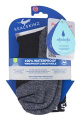SealSkinz 1 Pair 100% Waterproof Soft Touch Mid Length Socks Packaging Image