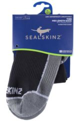 Mens and Ladies 1 Pair SealSkinz 100% Waterproof Thin Mid Length Socks Packaging Image