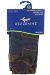 Mens and Ladies 1 Pair SealSkinz 100% Waterproof Thin Mid Length Walking Socks Packaging Image
