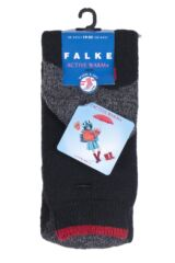 Boys And Girls 1 Pair Falke Active Warm Plus Knee High Socks Packaging Image